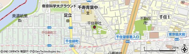 千住神社周辺の地図