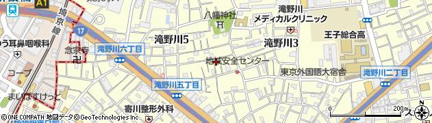 東京都北区滝野川周辺の地図