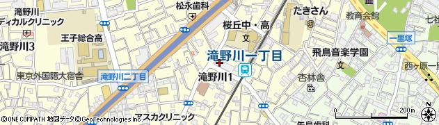東京都北区滝野川1丁目48周辺の地図