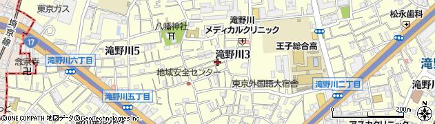 東京都北区滝野川3丁目周辺の地図