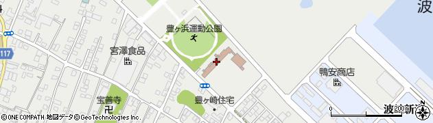 波崎漁港海岸休憩施設周辺の地図