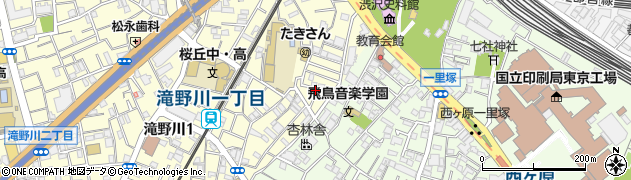 東京都北区滝野川1丁目9周辺の地図