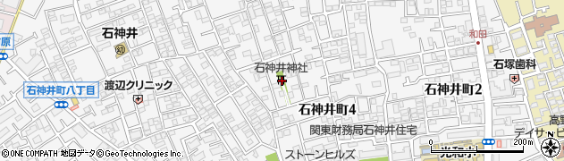 石神井神社周辺の地図