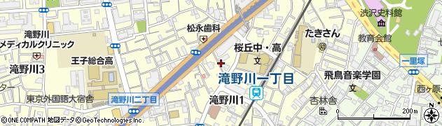 東京都北区滝野川1丁目67周辺の地図