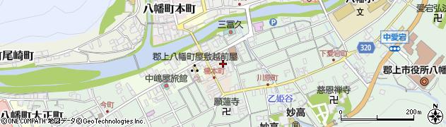 岐阜県郡上市八幡町橋本町周辺の地図