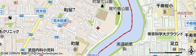 尾竹橋公園スカイハイツ周辺の地図