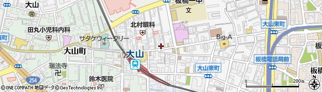 カレーハウスCoCo壱番屋東武大山駅前通店周辺の地図