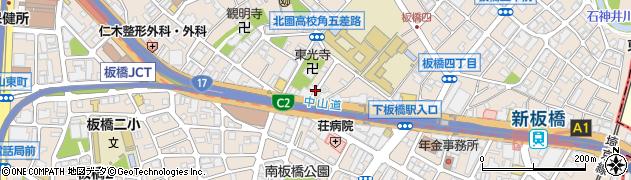 東京都板橋区板橋周辺の地図