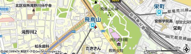 東京都北区滝野川1丁目4周辺の地図