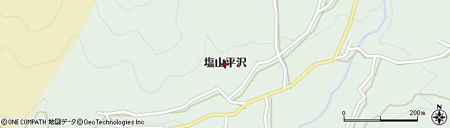 山梨県甲州市塩山平沢周辺の地図