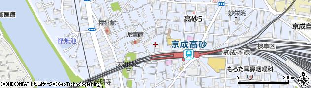 東京都葛飾区高砂周辺の地図