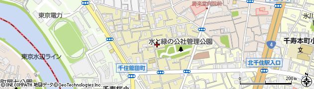 東京都足立区千住龍田町周辺の地図