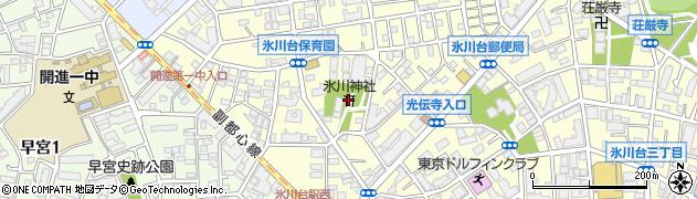 氷川神社周辺の地図