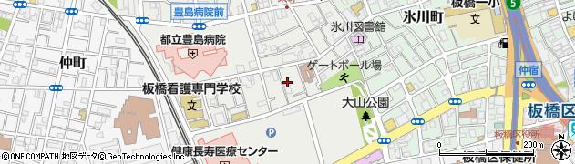 東京都板橋区栄町周辺の地図