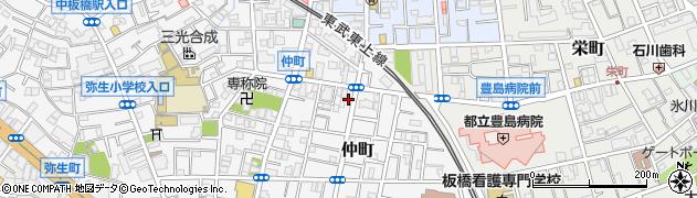 東京都板橋区仲町周辺の地図
