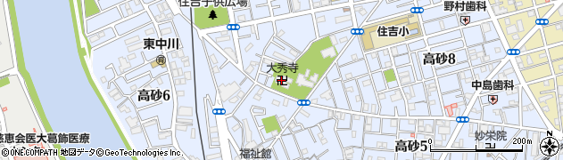 大秀寺周辺の地図