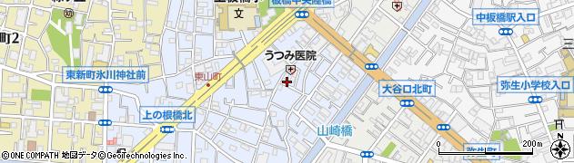 東京都板橋区東山町周辺の地図
