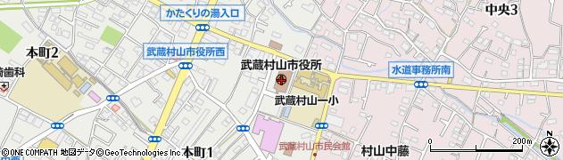 東京都武蔵村山市周辺の地図