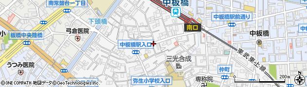 東京都板橋区弥生町周辺の地図