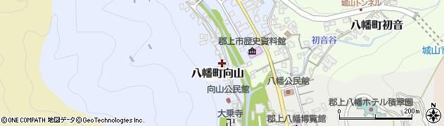 岐阜県郡上市八幡町中坪周辺の地図