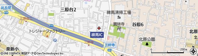 東京都練馬区三原台2丁目2周辺の地図