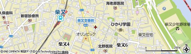 東京都葛飾区柴又周辺の地図
