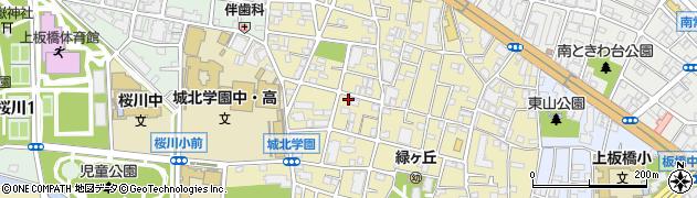 東京都板橋区東新町周辺の地図
