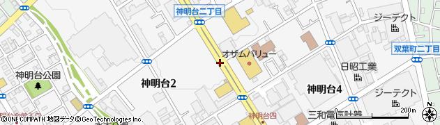 東京都羽村市神明台周辺の地図