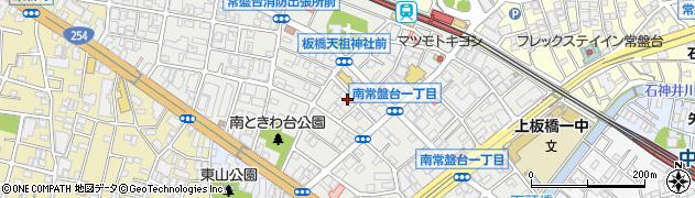 東京都板橋区南常盤台周辺の地図