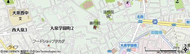 善行院周辺の地図