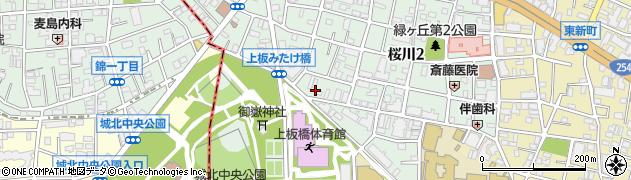 東京都板橋区桜川周辺の地図