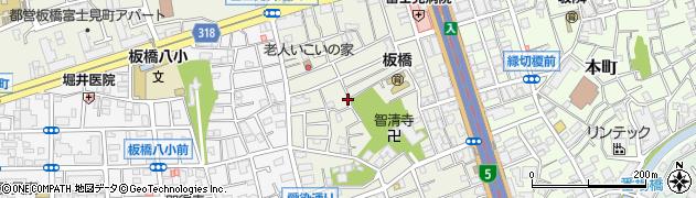 東京都板橋区大和町周辺の地図