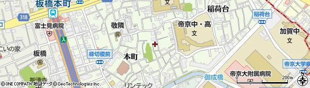東京都板橋区本町周辺の地図