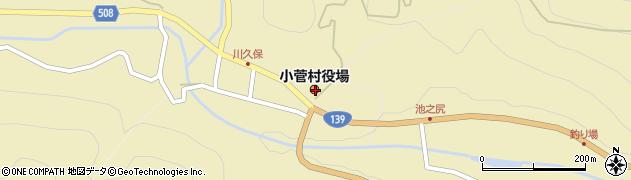 山梨県北都留郡小菅村周辺の地図