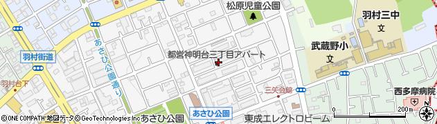 都営神明台三丁目アパート周辺の地図