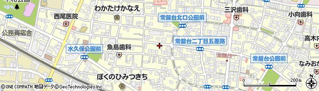 東京都板橋区常盤台周辺の地図