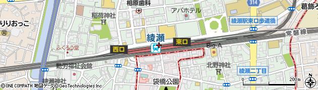 東京都足立区周辺の地図