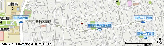 東京都練馬区田柄周辺の地図