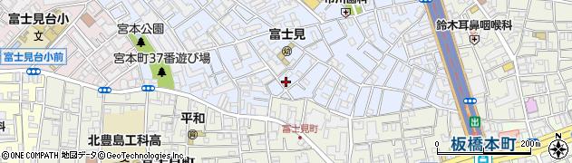 東京都板橋区宮本町周辺の地図