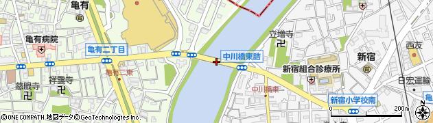 中川橋周辺の地図