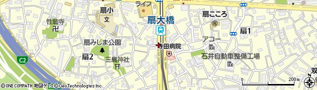 扇大橋北周辺の地図