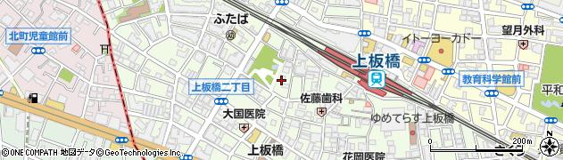 東京都板橋区上板橋周辺の地図