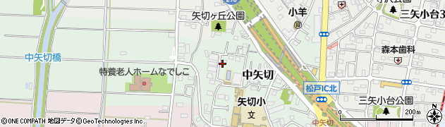 千葉県松戸市中矢切周辺の地図