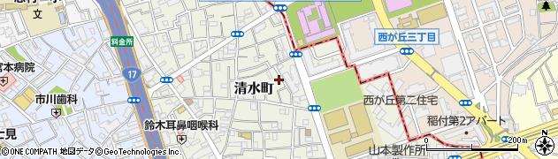 東京都板橋区清水町周辺の地図