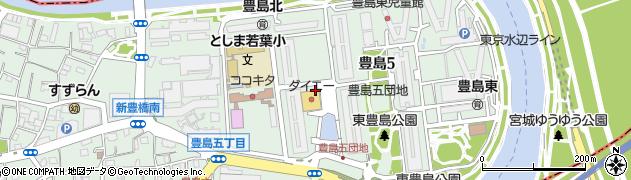 豊島五丁目団地周辺の地図