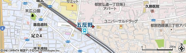 居酒屋磯吉五反野店周辺の地図