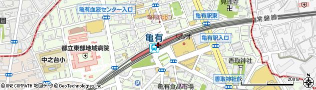 東京都葛飾区周辺の地図