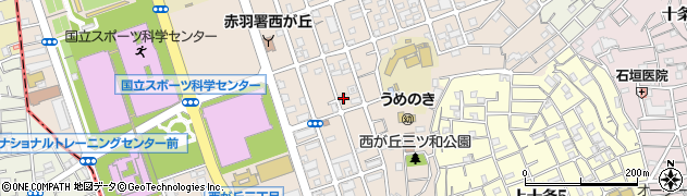 東京都北区西が丘2丁目周辺の地図