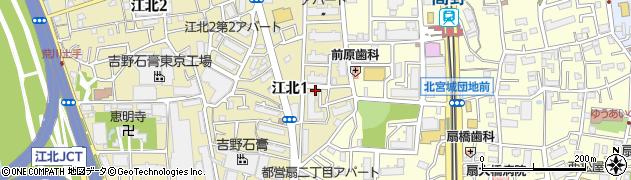 都営北宮城団地周辺の地図