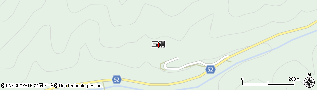 岐阜県関市板取(三洞)周辺の地図